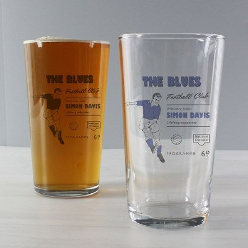 Vintage Blue's Football Supporter's Pint Glass